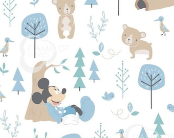 Mickey, Little Bear, 85270405, col 1, Mickey in the meadow,, Camelot Fabrics, cotton, cotton quilt, cotton designer
