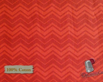 Zigzag, red, Édition Fabric, multiple quantity cut in one piece, 100% Cotton,