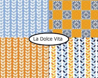 4 prints, La Dolce Vita, Camelot Fabrics, bundle, 1 of each
