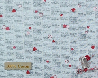 Red Heart, Dear Heart, Studio e, 3594, multiple quantity cut in one piece, 100% Cotton