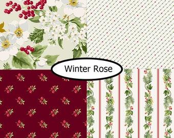 4 prints, Winter Rose, Andover,  bundle, 1 of each