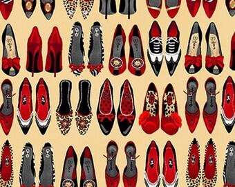 Shoe, Shoe Love is True Love, 1711, col 46, Henry Glass & Co, 100% Cotton