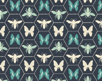 Butterfly, Bee, Monarch Grove, 26170506, col 02, Camelot Fabrics, 100% Cotton, quilt cotton