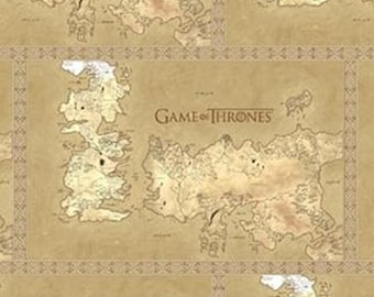 Map of Westros, Game Thrones, Springs Creatives, CP64270, 100% Cotton, quilt cotton