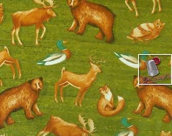VENTE, Wild animals, 100% cotton, Wild Woods, 41120, multiple quantity cut in one piece