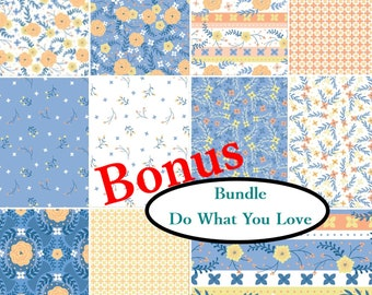 Bundle, 11 prints, Do what you love, Alisse Courter, Camelot Fabrics, Bundle, 1 of each print, quilt cotton