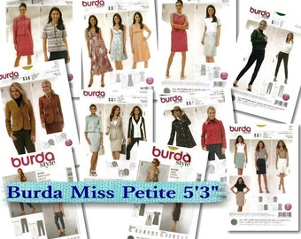 "70%, 8 models, Burda, little women 5'3"", 6-22, new, uncut."