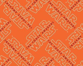 Star Wars, The force awakens, logo, 7360108, col 01, Camelot Fabrics, cotton, cotton quilt, cotton designer
