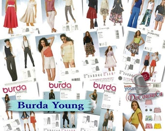 70%, 7 models,  Burda Young, Skirt & pants, 6-24, new, uncut,