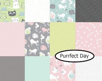 Bundle, 12  designs, Purffect Day, Riley Blake, 100% cotton