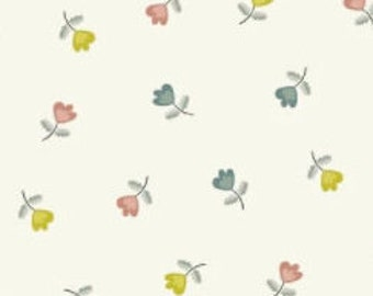 Tulip, Flower, ivory, 1845, Makower, cotton, cotton quilt, cotton designer