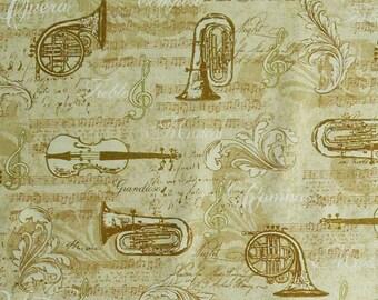 Musical instrument, musical note, All that Jazz, 15898, Robert Kaufman, cotton, cotton quilt, cotton designer
