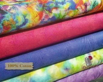Bundle, 5 prints, Batik, multicolor, Free Spirit, 1 of each print
