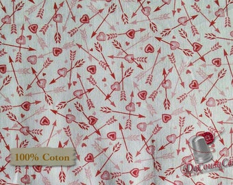 VENTE, Cupidon, Dear Heart, Studio e, 3593, multiple quantity cut in one piece, 100% Cotton,