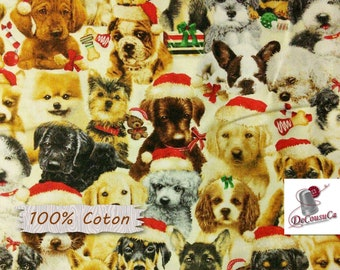 Dogs, Fireside Pups, 7194, Henry Glass & Co, multiple quantity cut in 1 piece, 100% Cotton