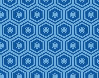 Royal, honeycomb, 2142, col 16, Mixology, Camelot Fabrics, cotton, cotton quilt, cotton designer