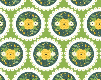 Bright Side, flower, 2240905, col 02, Camelot Fabrics, multiple quantity cut in 1 piece, 100% Cotton