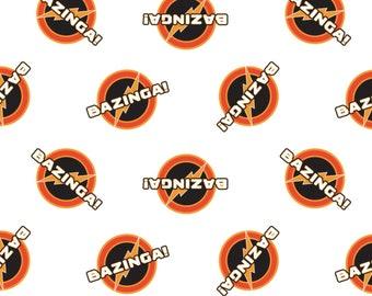 Bazinga, The Big Bang Theory, 23680105, col 02, Camelot Fabrics, cotton, cotton quilt, cotton designer