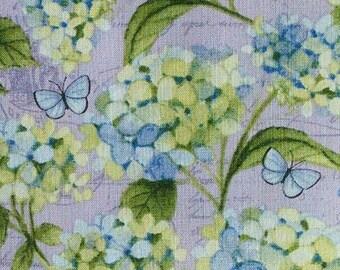 Butterfly, flower, violet-pink, Clothworks, cotton quilt, cotton designer