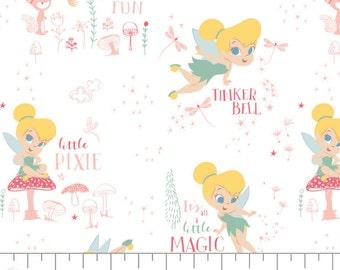 Disney, Tinker Bell, 85400301, col 01, Camelot Fabrics, cotton, cotton quilt, cotton designer