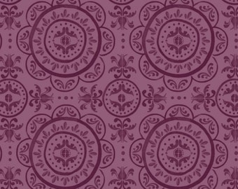 Medallion, Purple, 26170205J, 01, Mulberry Bloom, Sara Berrenson, Camelot Fabrics, 100% Cotton, quilt cotton