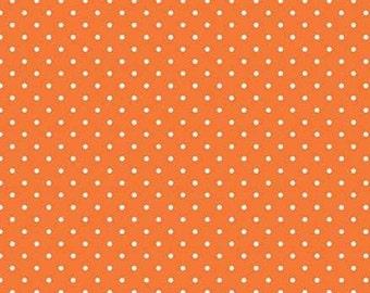 Orange, white. 670, Riley Blake, cotton quilt, cotton designer