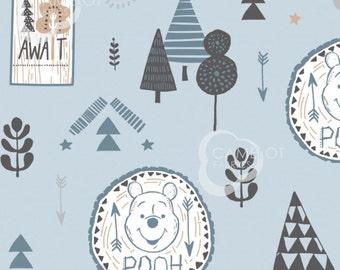 Adventure Awaits, Winnie The Pooh, blue, 85430403, Camelot Fabrics, cotton, cotton quilt, cotton designer