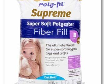 Silky fiber. Superior alternative to cluster fiber. Non-allergenic. FAIRFIELD Poly-Fil® Ultra Plush Fiberfill - 227 g (8 oz.)