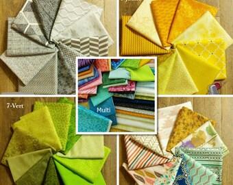 10 FE or FQ bundle, choose color, 1 Fat Quarter = 18''X22 '', (45cm x 55cm), cotton, quilting quality, quilt cotton
