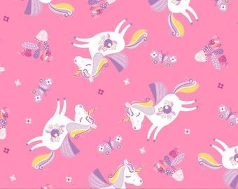 Unicorn, Once Upon a Time, 91190203, col 01, Camelot Fabrics, cotton, cotton quilt, cotton designer