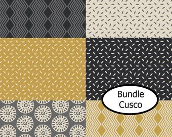 6 prints, Cusco, Camelot Fabrics, 100% cotton