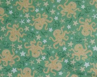 Pieuvre, 21180303, col 02, Beachside Pretty, Oceanic Garden, Camelot Fabrics, cotton, cotton quilt, cotton designer