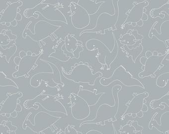 Outline, stone, 6141705-03, You are Dino-Mite, Camelot Fabrics, 100% Cotton