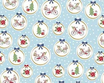 Christmas Adventure, Riley Blake Designs, Christmas fabric 100% cotton, #10732 WATERFALL
