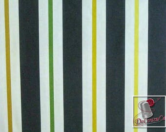 Kimono Stipe, charcoal, white, Michael Miller Fabrics, 6848, multiple quantity cut in one piece, 100% Cotton