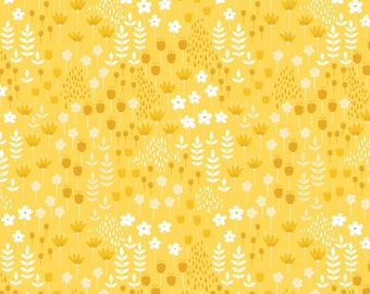 Bright Side, flower, 2240902, col 01, Camelot Fabrics, multiple quantity cut in 1 piece, 100% Cotton
