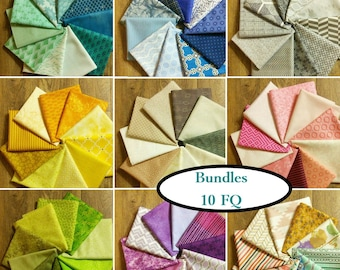 10 FQ bundle, choose color, 1 Fat Quarter = 18''X22 '', (45cm x 55cm), cotton, quilting quality, quilt cotton, (Reg 39.90)
