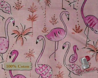 Flamingo, Pink, spring, Free Spirit, multiple quantity cut in one piece, 100% Cotton, (Reg 2.39-17.29)