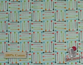 Needles, One Stitch at a time, 2032, Henry Glass & Co, multiple quantity cut in 1 piece, 100% Cotton, (Reg 2.99-17.99)