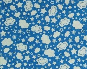 Cloud Glow True-Blue, Glow for it, 8918, col 54, Benartex, 100% coton