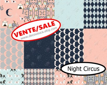 25%, Bundle, 12  designs, Night Circus, Camelot Fabrics, 1 of each, cotton, (Reg 45.12-132.12)