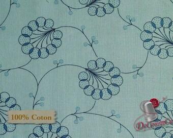 Blue, Indigo Cottage, 2117, Henry Glass & Co, multiple quantity cut in 1 piece, 100% Cotton
