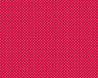 Spot, RED/White, 830, Makower, cotton, cotton quilt, cotton designer