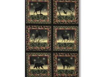 "Panel, Forest animals, 24""X44"", 2190, Benartex"