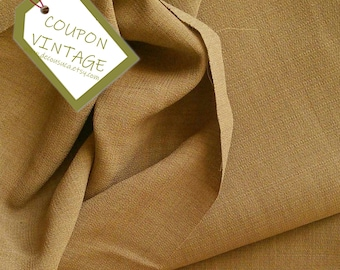 COUPON 200cm X 150cm, Fabric for clothing, Beige, Butternut, 100% polyester, opaque and light, NON stretch, for skirt, blouse, dress