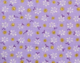 Fabric Purple Floral, Dots Gold, 80526144, Floral Dots, cotton, cotton quilt, cotton designer