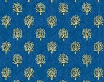Rhapsody trees, blue, 2180, Makower, cotton quilt, cotton designer
