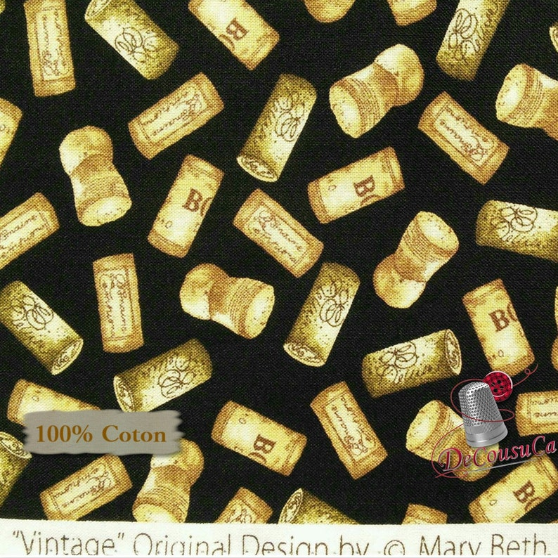 Vintage Cork Reg 2.99-17.99 100/% Cotton, 1136 Henry Glass /& Co multiple quantity cut in 1 piece Mary Beth Baker