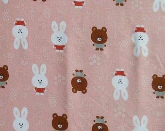 SALE, Rabbit, tea pink, Woo ILL, cotton, cotton quilt, cotton designer, (Reg 3.76-21.91)