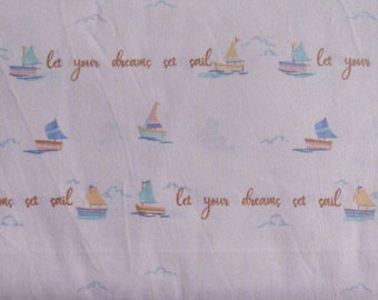 Fabric Sailing ship, Joann Fabrics, 100% cotton, cotton quilt, cotton designer